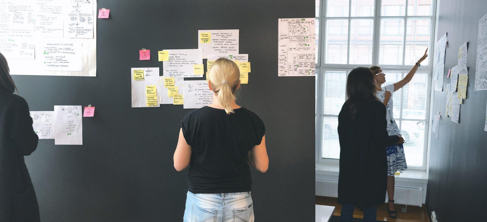 Unicef Design Sprint - keskiviikko - konseptien läpikäynti