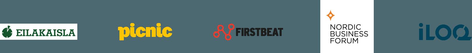 Asiakkaitamme - Eilakaisla - Picnic - Firstbeat - Nordic Business Forum - iLoq